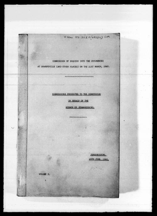 Commission of Enquiry into the Occurrences at Sharpeville