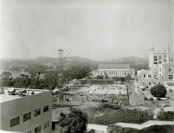 Ackerman Student Union construction site