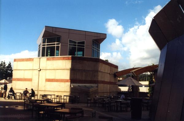 Ackerman Student Union patio, 2001