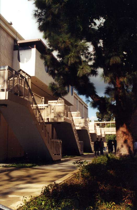 Ackerman Student Union stairs snapshot, 2001
