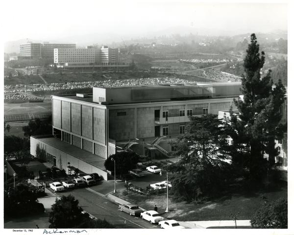 Ackerman Student Union exterior, 1962
