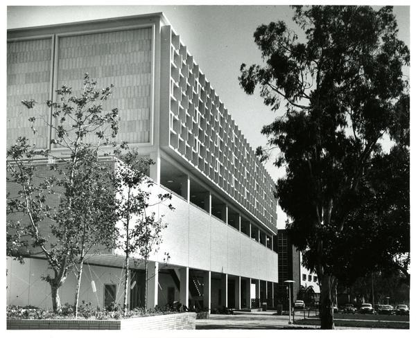 Ackerman Student Union exterior, ca. 1960s