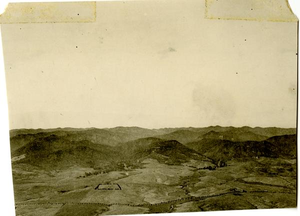 Aerial view of Westwood looking north from Pico Boulevard, 1922