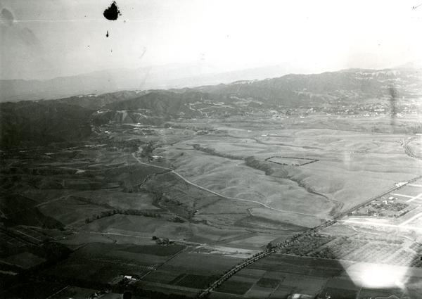 Aerial view of Westwood, 1923