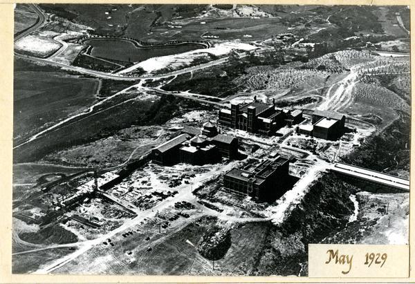 Aerial view of Westwood campus, May 1929