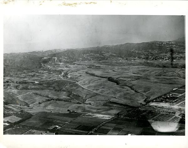 Aerial view of Westwood, 1924