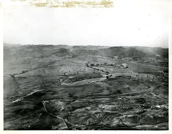 Aerial view of Westwood ca. 1920