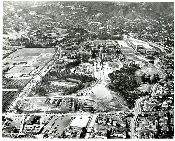 Aerial view of University of California, Los Angeles, ca. 1950