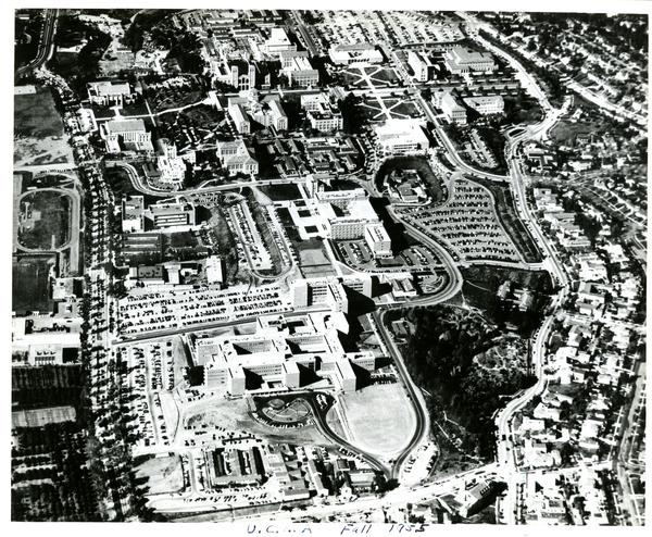 Aerial view of University of California, Los Angeles, ca. 1950's