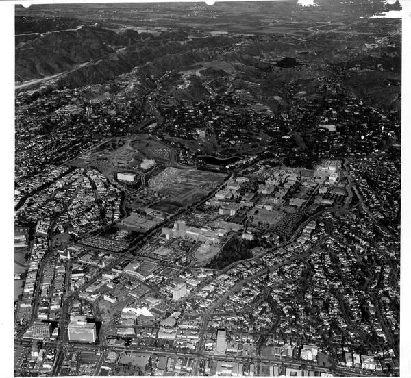 Aerial view of University of California, Los Angeles, ca. 1963