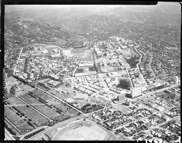 Aerial view of University of California, Los Angeles, ca. 1960's