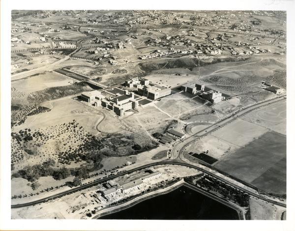Aerial view of Westwood campus, August 6, 1931