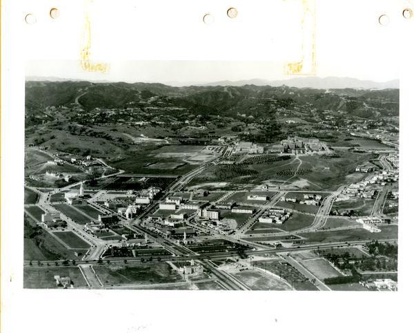 Aerial view of Westwood Village, 1934