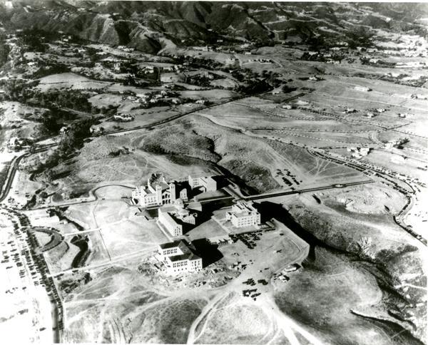 Aerial view of Westwood campus, 1936