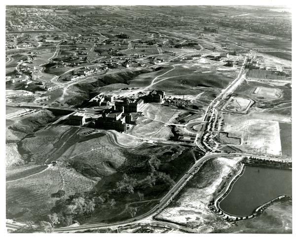Aerial view of Westwood campus, January 21, 1930