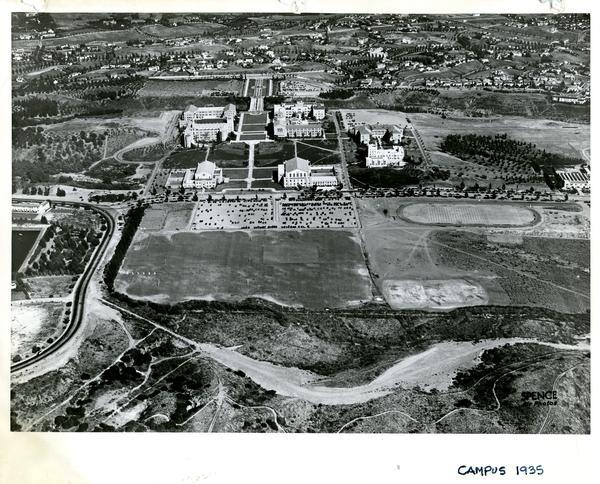 Aerial view of Westwood campus, September 17, 1935