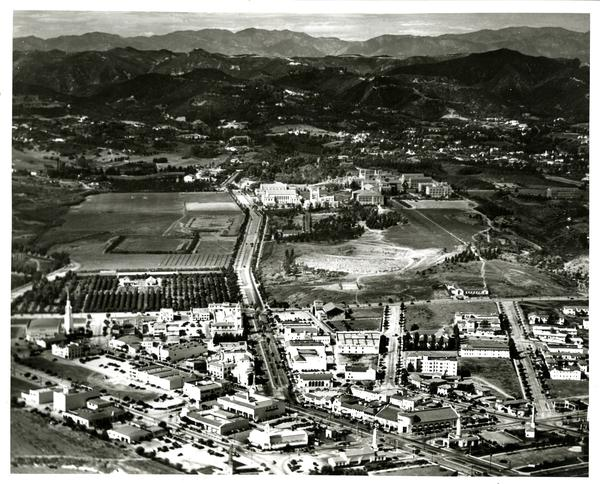 Aerial view of Westwood campus, January 15, 1938