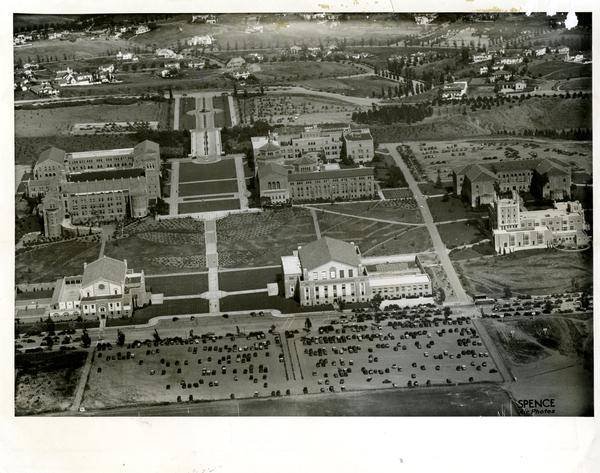 Aerial view of Westwood campus, May 3, 1935