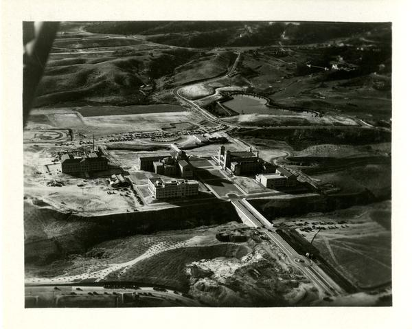 Aerial view of Westwood campus, ca. 1930