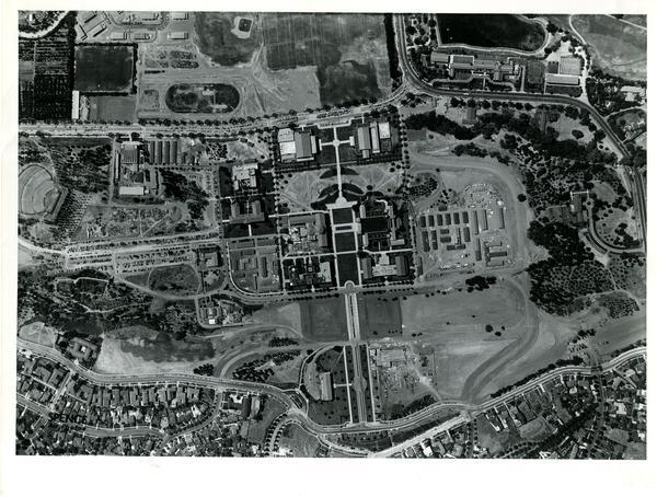 Aerial view of Westwood campus, August 11, 1947