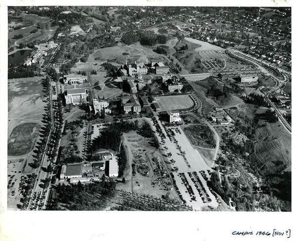 Aerial view of Westwood campus, ca. November 1946