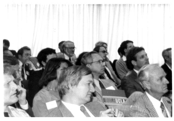 Audience members at the Design Seminar for the School of Architecture, 1982