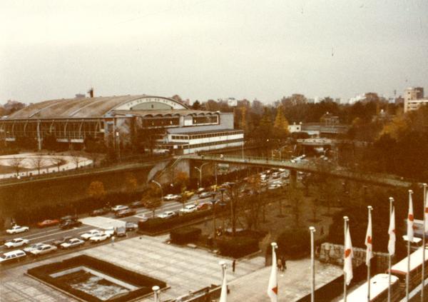 Panoramic view of stadium in Japan
