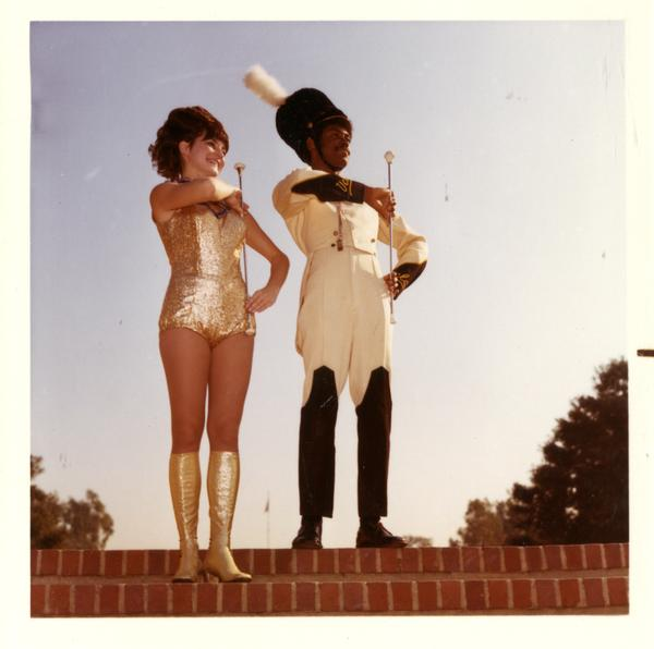 Drum major and golden girl, 1971