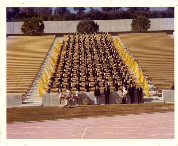 Official photo of UCLA Band 1972