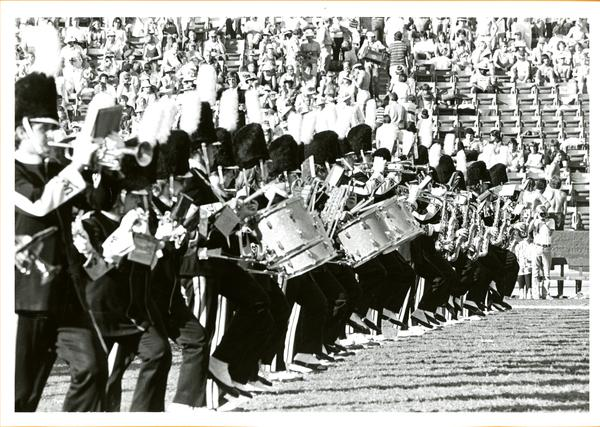 UCLA Marching Band performing