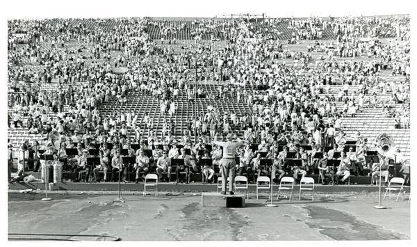 UCLA band F. Kelly James conducting, 1971