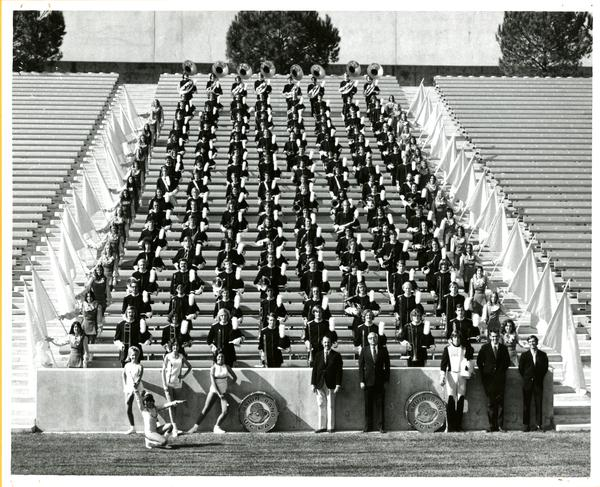 Official photo of UCLA Marching Band 1972