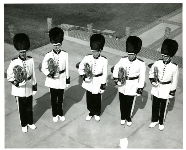 UCLA Marching band French horn players