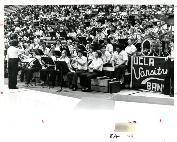 UCLA Varsity Band performing