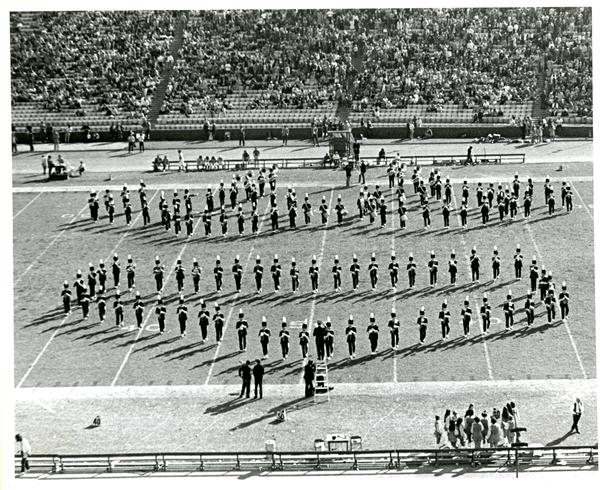 Marching band march in formation