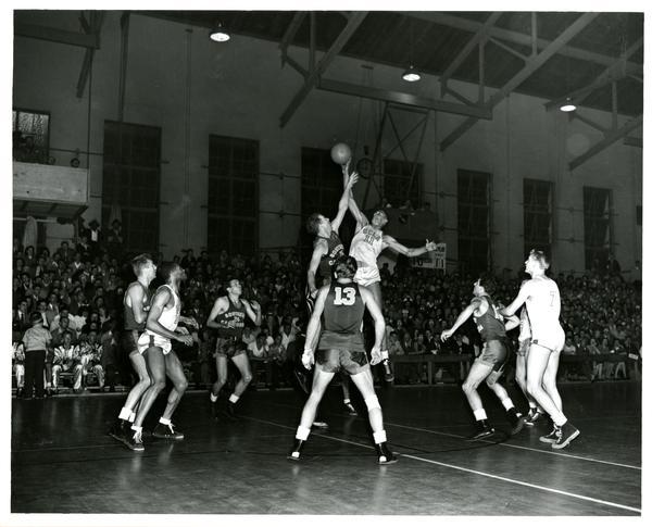 UCLA vs. USC basketball game, 1947
