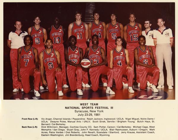 West Team portrait at National Sports Festival III, Syracuse, New York July 23-29, 1981