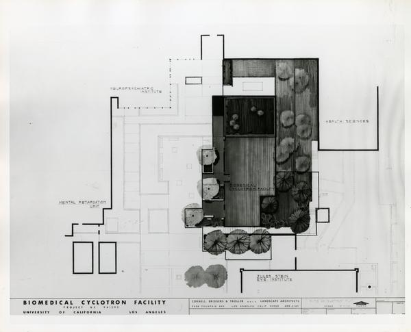 Architectural sketch of Biomedical Cyclotron Facility from above
