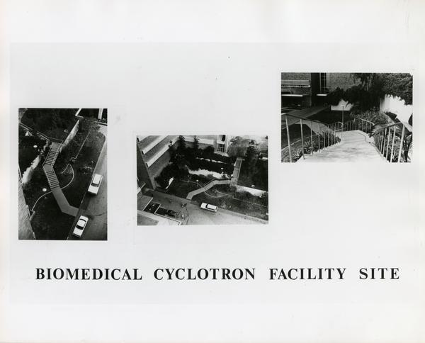 Three photographs of Biomedical Cyclotron Facility Site
