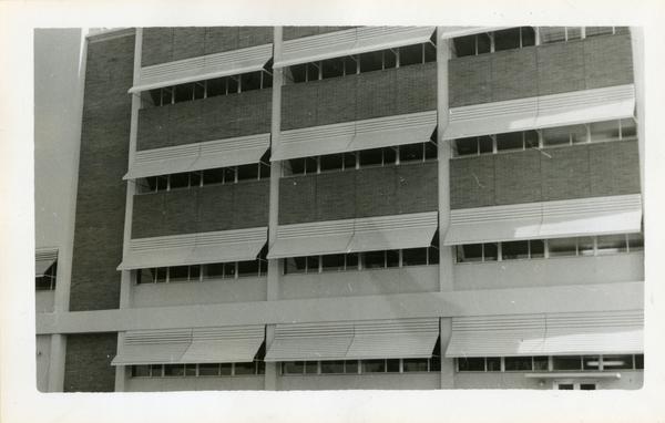 Engineering Unit II exterior windows, 1958