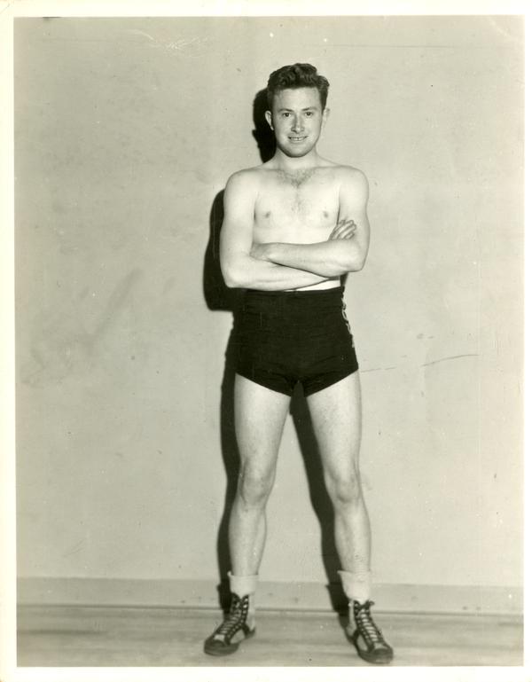 Portrait of boxing captain Bob Bickel
