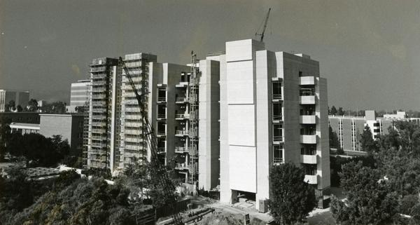 View of Boyer Hall under construction