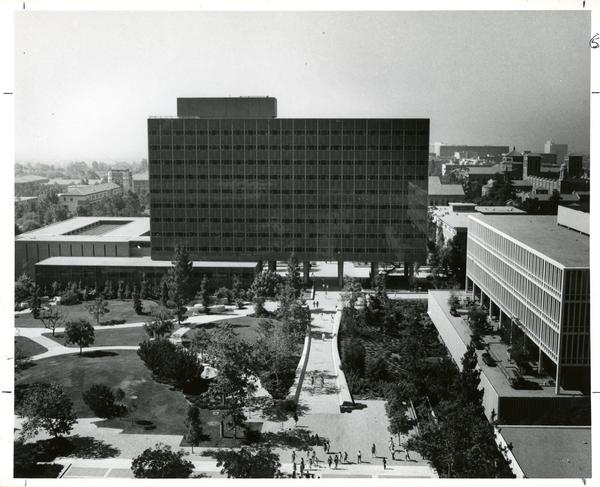 Bunche hall exterior ca. 1968