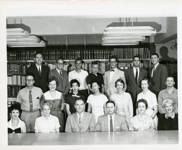 Group portrait of Bureau of Governmental Research staff, 1958