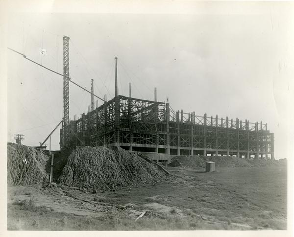 View of Campbell Hall construction site