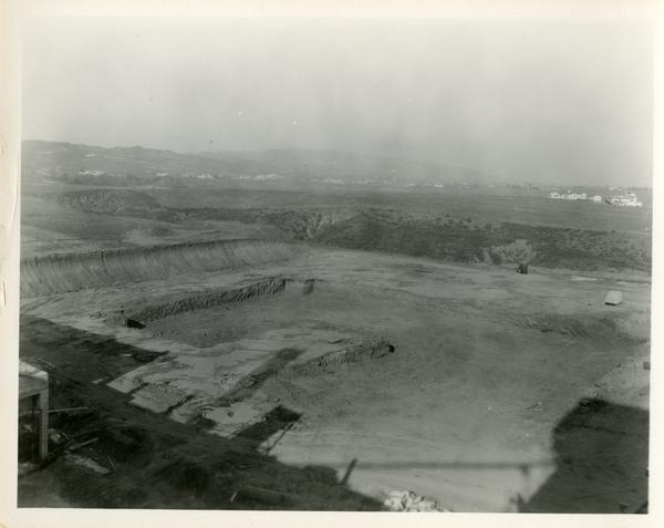 View of bare construction site