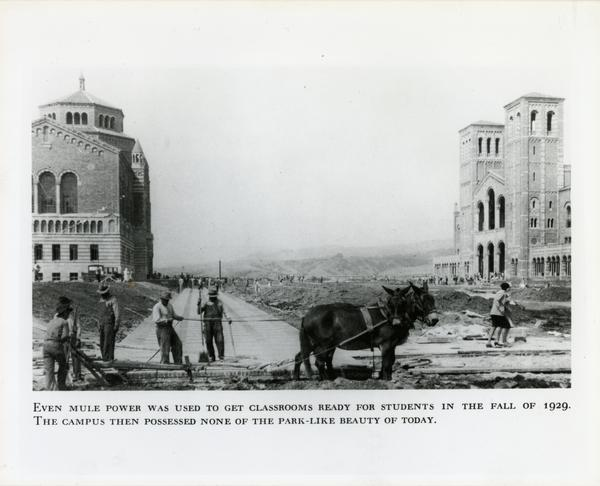 View of campus construction, ca. 1927