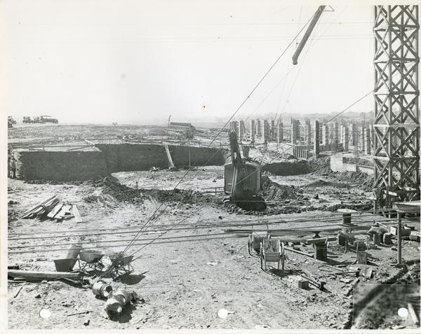 View of construction zone