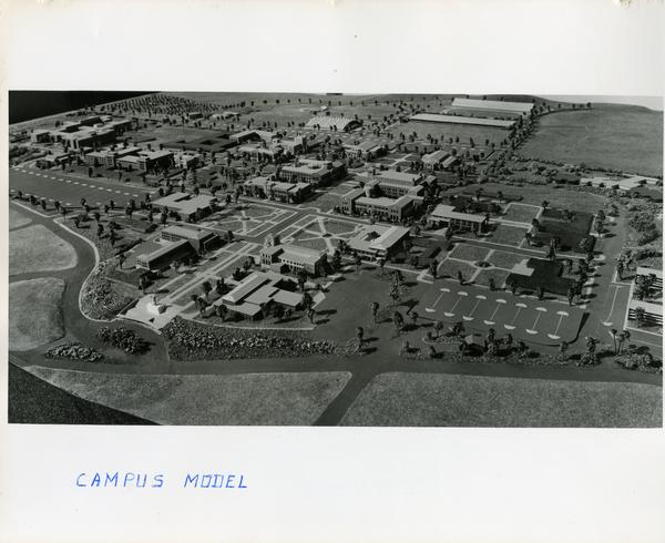 Architectural model of the UCLA campus, March 1956