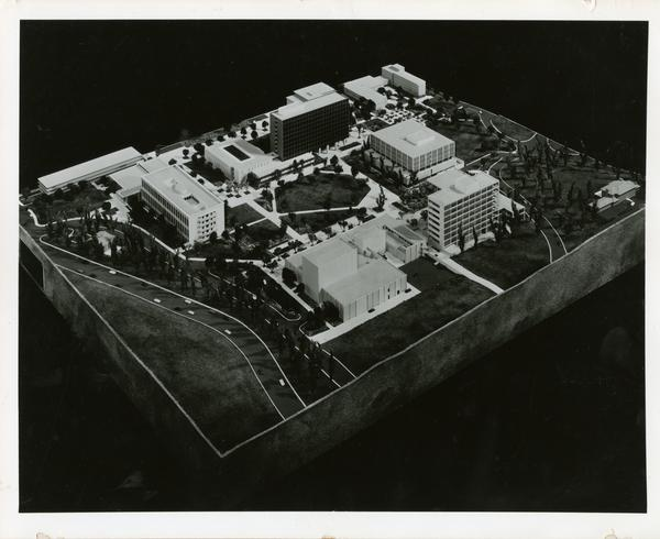Architectural model of the UCLA north campus
